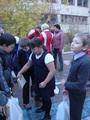Сбор макулатуры в школе.