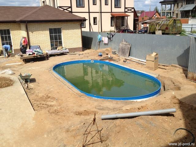 Вкопанный бассейн на даче