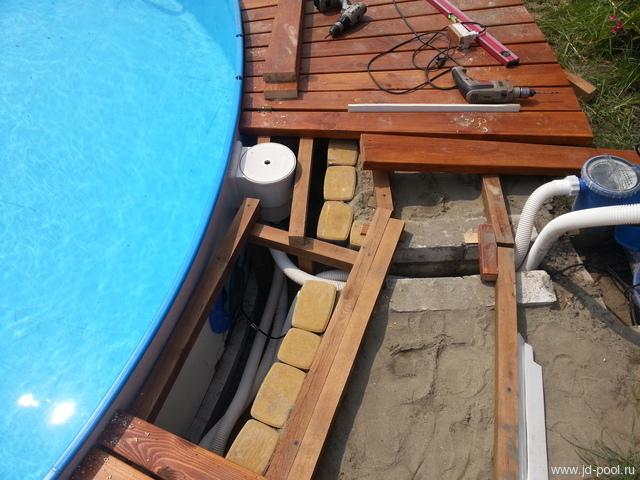 Помост для каркасного бассейна своими руками фото 7