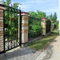 Фасадный забор