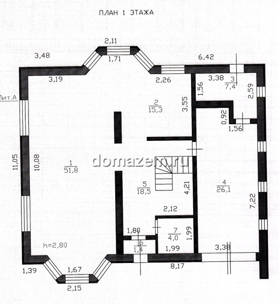 План первого жилого этажа.