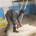 Наши односельчане на ремонте клуба - август-ноябрь 2011 года