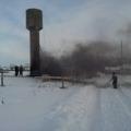 Отогрев башни водонапорной - 28.01.2012