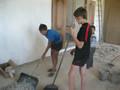 21.06.2012 - молодёжь на уборке мусора в клубе