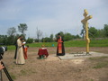Освещение Поклонного креста в селе - 14, 28 мая 2013 года