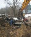 Строительство водопровода в селе - декабрь 2013