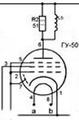Схема лампы ГУ-50