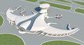 Аэропорт космодрома Восточный (эскиз 2015), ВПП = 4,5 км
