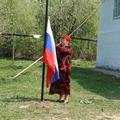 Установление государственности в селе - подъём Флага РОССИИ