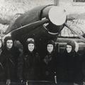 Лётчики эскадрилии под Ленинградом