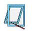 ST 450 высоконадежный штоковый привод для фрамуг, зенитных и мансардных окон, шэдовых окон и жалюзи.
