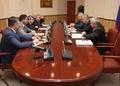 Д. Абдурахманов встретился со спикером Мажилиса Парламента Казахстана У. Мухамеджановым