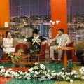 На съемке телепередачи приуроченной к 1 Мая