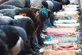 Праздничная молитва в мечети Ансар