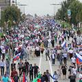 Многотысячный митинг и шествие в честь Дня республики прошли в Грозном (фото)