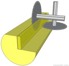 Принцип работы угловой дисковой пилорамы