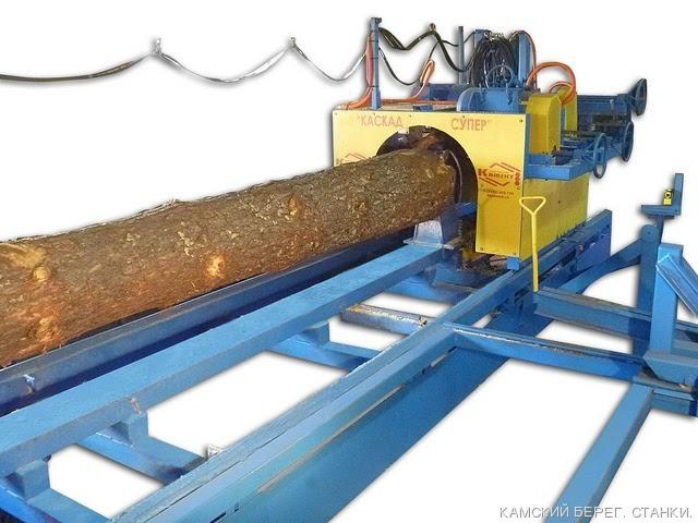 Мощный оцилиндровочный станок для комплектации серийного производства домокомплектов из оцилиндрованного бревна и выполнения нестандартных заказов (до 500 мм на выходе).