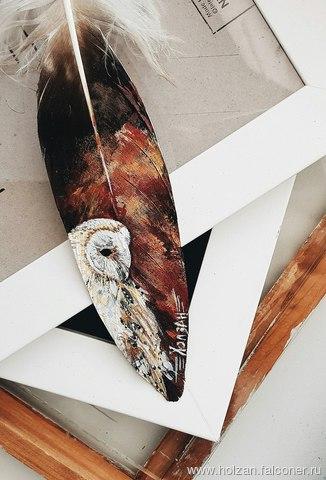 «Хищная» роспись перьев