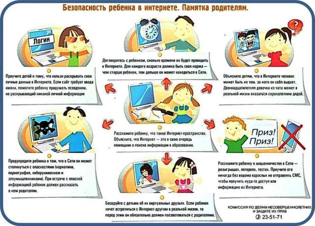 Безопасность ребенка в интернете. - Медиабезопасность