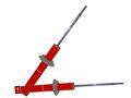 Телескопические стойки задней подвески PLAZA, серия Стандарт для Шевроле Нива.