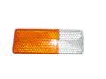 Стекло подфарника для ВАЗ 2106, Освар, правый, жёлтый.