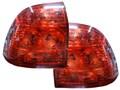 Штатные тюнингованные фонари для Лада Приора (седан и хетчбек), красные.