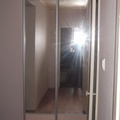 Шкаф купе коридор 001 (встроенный с зеркалами)