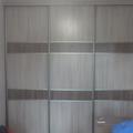встроеный шкаф- купе ясень шимо светлый модерн 003