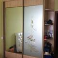 Встроенный шкаф купе (витраж+ зеркало)