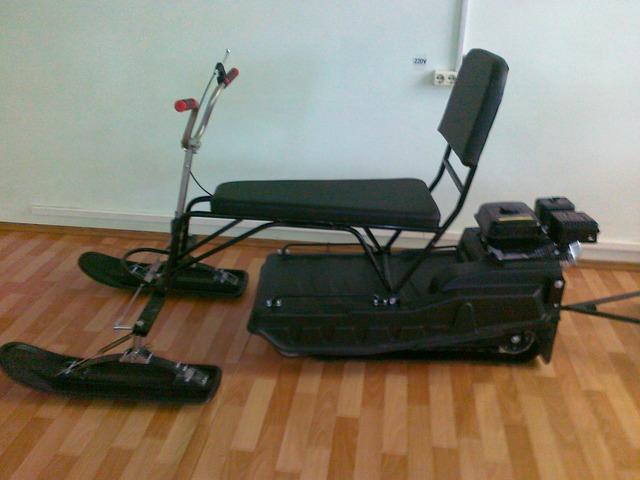 Самодельный лыжный модуль на мотобуксировщик 79