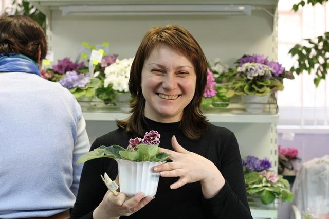 Лена Лебецкая со своей красавицей ЛЕ-Маджента.