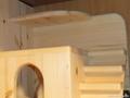 Домик для шиншиллы с боковой лестницей .