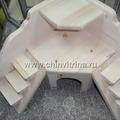Угловой домик для шиншиллы с 2 лестницами Цена: 900 руб.