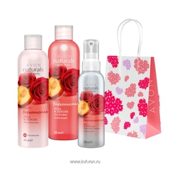 "Avon Naturals ""Бархатистая роза и персик"""