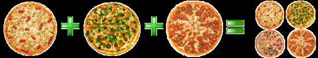 Закажи 3 пиццы на дом — получи 4-ю в подарок!