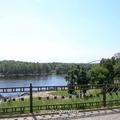 Вид с верхней набережной на реку Сож.