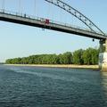 Пешеходный мост через Сож.