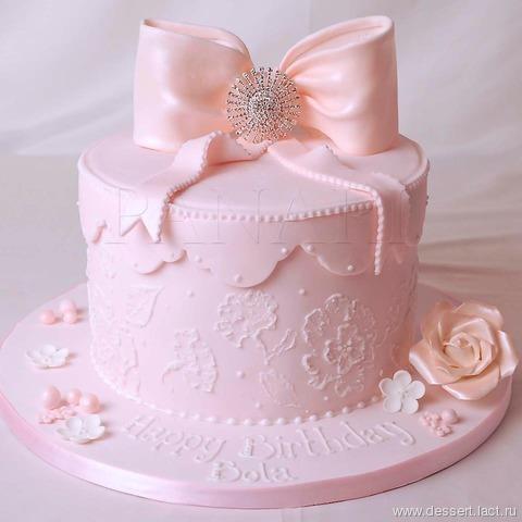 Торт с бантами фото