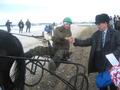 Иван Ячменев на Раздоре - 1 место среди орловских рысаков ст.возраста (МО Алапаевское)