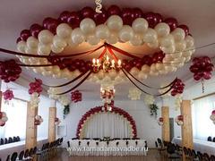 Украшение залов воздушными шарами!