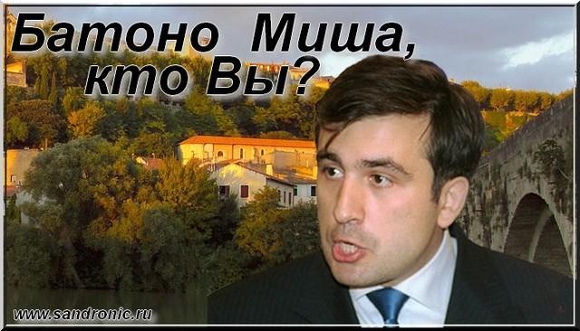 Батоно  Миша, кто Вы? Михаил  Саакашвили.