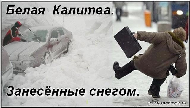 Белая  Калитва. Занесённые снегом