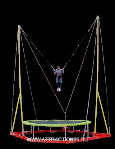 Батут Кенгуру (Банджи,тарзанка) одноместный,высота 8 метров