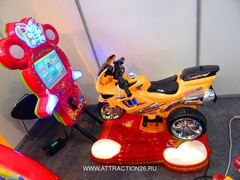 Качалка мотоцикл с видеоиграми