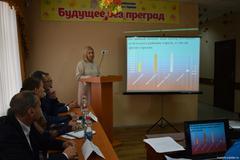 Директор ЦСРДИ г. Горловка Куц Н.В. проводит презентацию Центра.