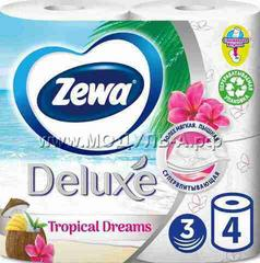 ZEWA DeLuxe Tropical Dreams 3 сл 4 рул