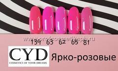 Ярко-розовые №62,63,65,81,139 Gel Polish (Series Pigment) 15мл. CYD Prof.Line Номер пишите в комментарии к заказу