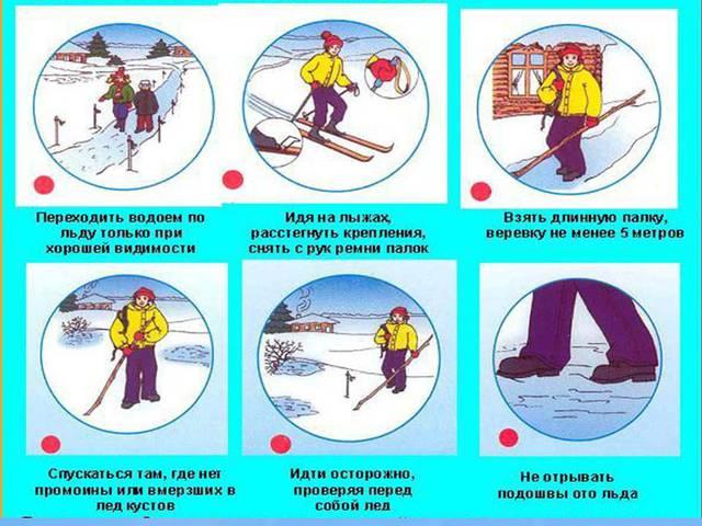 Правила безопасности на льду - Безопасность на воде