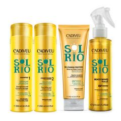 "Набор Sol do Rio ""Умная система""  Shampoo 250ml + Conditioner 250ml + Re - Charge Protein 250ml + Beach Waves 215ml"