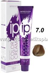 "Крем - краска тон ""Блонд 7.0"" IP color cream Impression Professional 100 мл."